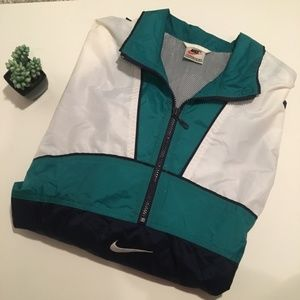9bb4f38500231b Nike Jackets   Coats - Vintage Nike Grey Tag Blue Teal White Windbreaker